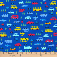 Kaufman Mini Prints Cars Blue