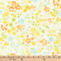 Kaufman Comfy Double Gauze Flowers Summer