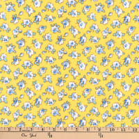 Kaufman Dolly Jean Small Flowers Yellow