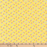 Kaufman Dolly Jean Tiny Flowers Yellow