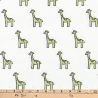 Kaufman Little Safari Flannel Giraffes Pistachio