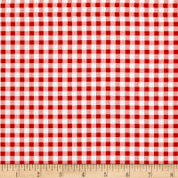 Country Cuisine Gingham Check Red