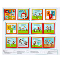 "Good Sports Monkey 35"" Book Panel Multi"