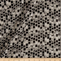 "108"" Mosaic Metallic Jacquard Black"
