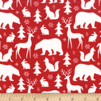 Michael Miller Woodland Winter Winter Friends Santa