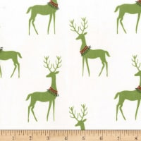 Michael Miller Woodland Winter Reindeer Mistletoe