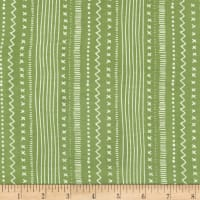 Michael Miller Woodland Winter Stitches And Stripes Mistletoe