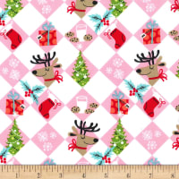 Michael Miller Holiday Row Tinsel Tiles Multi