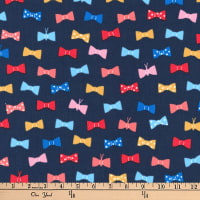 Kaufman London Calling Lawn Bow Ties Navy