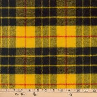 Kaufman Highlander Flannel Plaid Gold