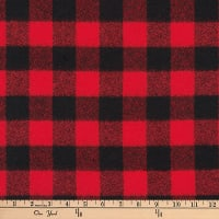 Kaufman Mammoth Flannel Buffalo Check Small Red
