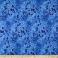 "Ivy Vine 118"" Wide Back Leaves Blue"