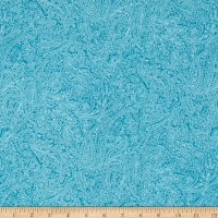 Flannel Paisley Turquoise