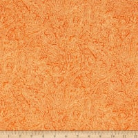Flannel Paisley Orange