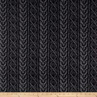 Kashmir Hatchi Sweater Knit Stripe Black/Grey