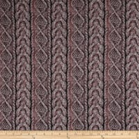 Stretch Kashmir Hatchi Knit Stripe Black/Blush