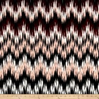 Techno Scuba Knit Aztec Black/Wine