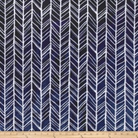 Shannon Minky Cuddle Herringbone Navy/Steel