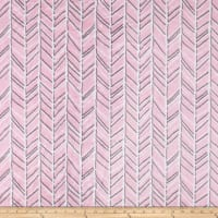 Shannon Minky Cuddle Herringbone Blush/Graphite
