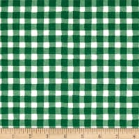 The Hen House Gingham Green