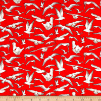 High Tide Seagulls Red