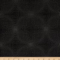 Measure Wavy Grid Black