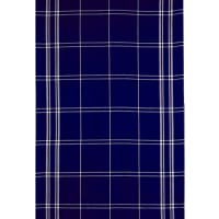 Moda Blue Plate Toweling Plaid Blue/Cream