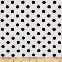 Bubble Crepe Medium Polka Dots White/Navy