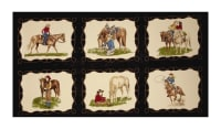 "Moda Cowgirl Country Cowgirl 23"" Panel Black Night"