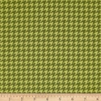 Snow Much Fun Holiday Houndstooth Pine Green