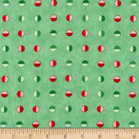 Moda Red Dot Green Dash Brushed Cottons Half Snowballs Evergreen