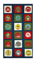 "Moda Eat, Drink & Be Ugly Sweater 24"" Panel Night Sky"