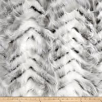 Shannon Swiss Fox Faux Fur Cream/Gray