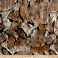 Shannon Lux Fur Wolverine Taupe/Black