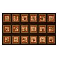 "Moda Fall Impressions Flannel Winter Forest 25"" Panel Nutmeg"