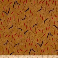 Moda Fall Impressions Flannel Cattails Mustard