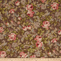 Moda Roses & Chocolate II Roses & Paisley Chocolate
