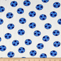 Pajama Rib Knit Soccer White/Blue