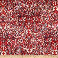Art Gallery Heritage Rayon Challis Treasured Kermes