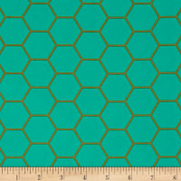 Art Gallery Blush Hex Teal