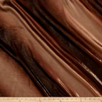 Charmeuse Satin Metallic 2-Tone Brown