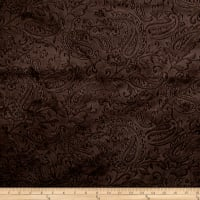 Shannon Minky Embossed Paisley Cuddle Chocolate