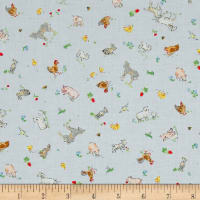 Country Days Small Animals Blue