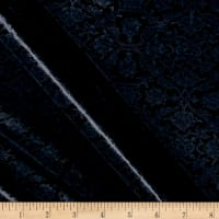Telio Amber Stretch Velvet Damask Navy