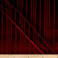 Telio Panne Stretch Velvet Stripe Red