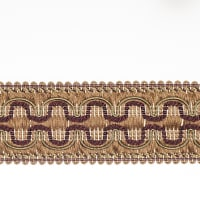 "Fabricut 2"" Beach House Trim Aubergine"