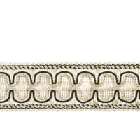 "Fabricut 2"" Beach House Trim Zebra"