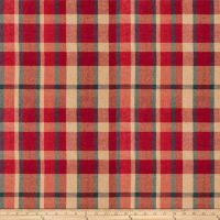 Fabricut Calais Plaid Chenille Redwood