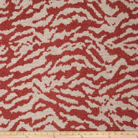 Fabricut Crossing Chenille Vermillion