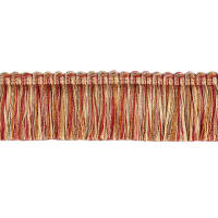"Fabricut 1.5"" Escargot Brush Fringe Foliage"